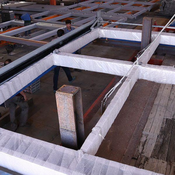 اتمام ساخت یونیت های نمای فولدآپ در کارخانه تدبیراسکان