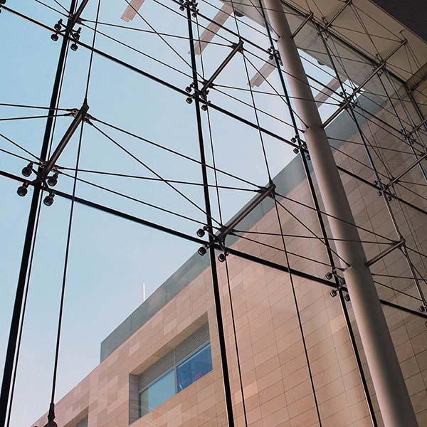 نمای کابلی شیشه ای