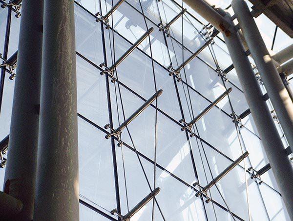 نمای شیشه ای تراس