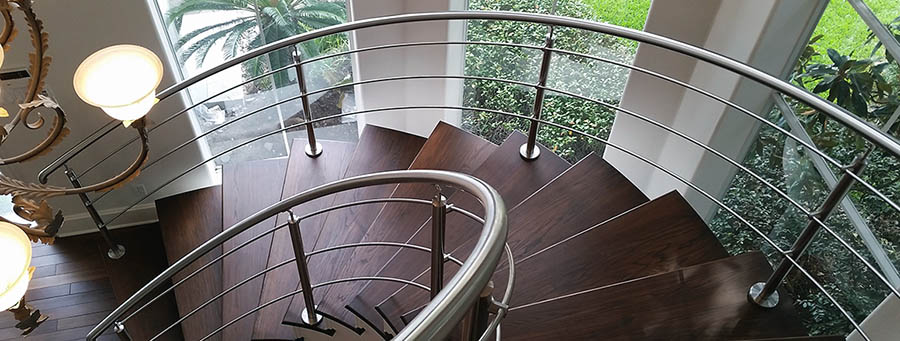 هندریل فلزی لوکس شیشه