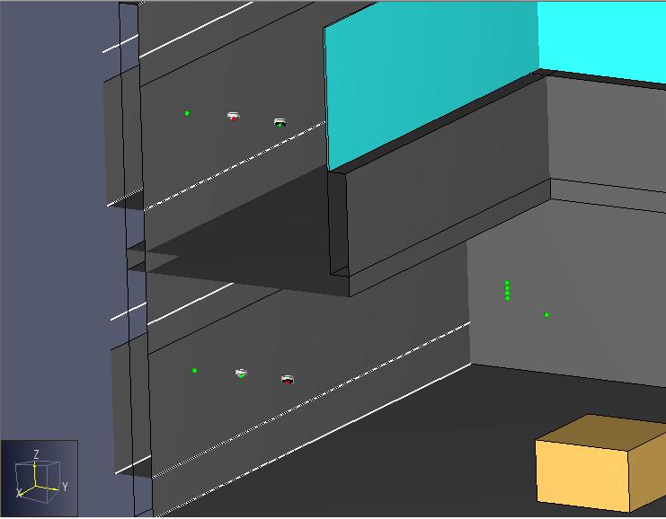 موقعیت دیتکتور دود در شبیه سازی